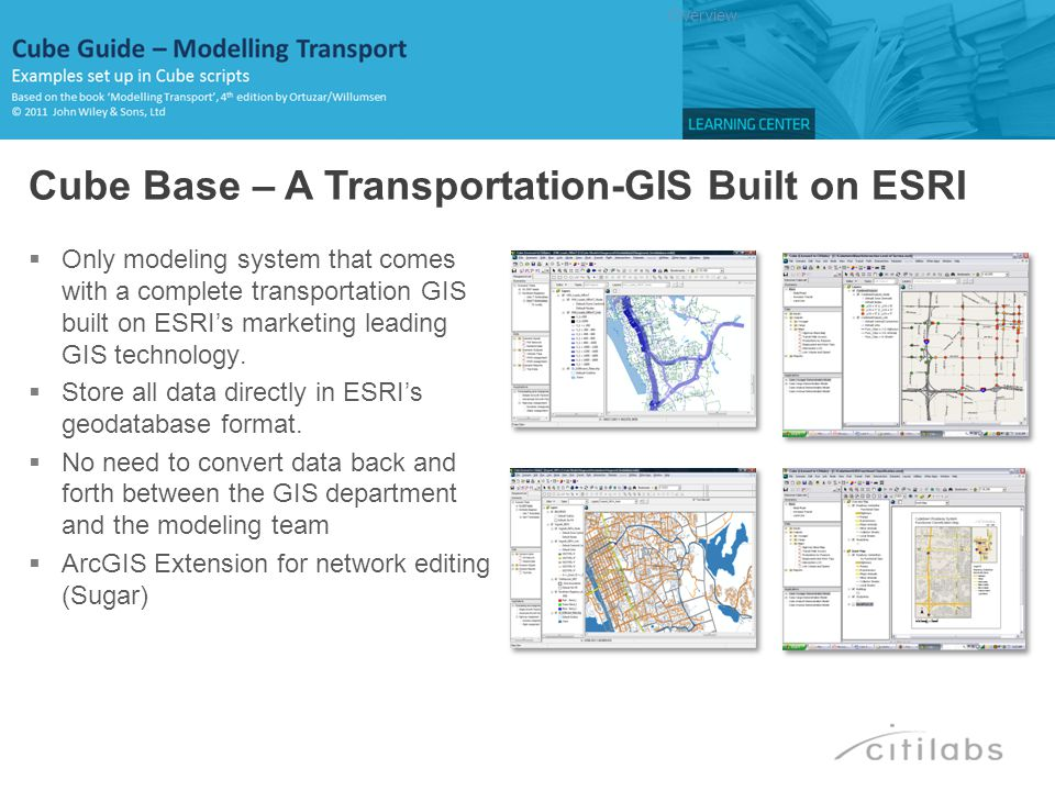 Cube Base – A Transportation-GIS Built on ESRI