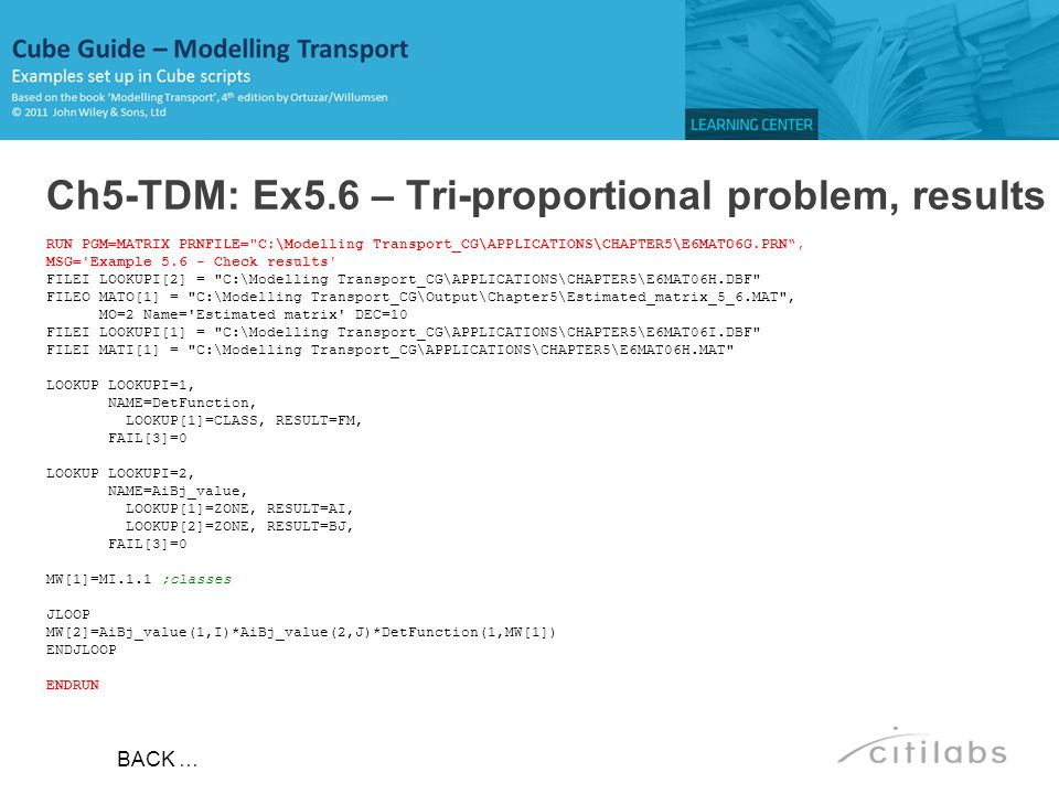 Ch5-TDM: Ex5.6 – Tri-proportional problem, results