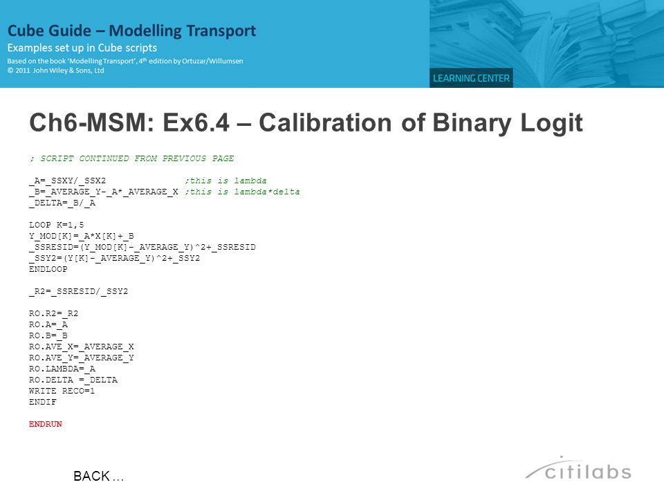 Ch6-MSM: Ex6.4 – Calibration of Binary Logit