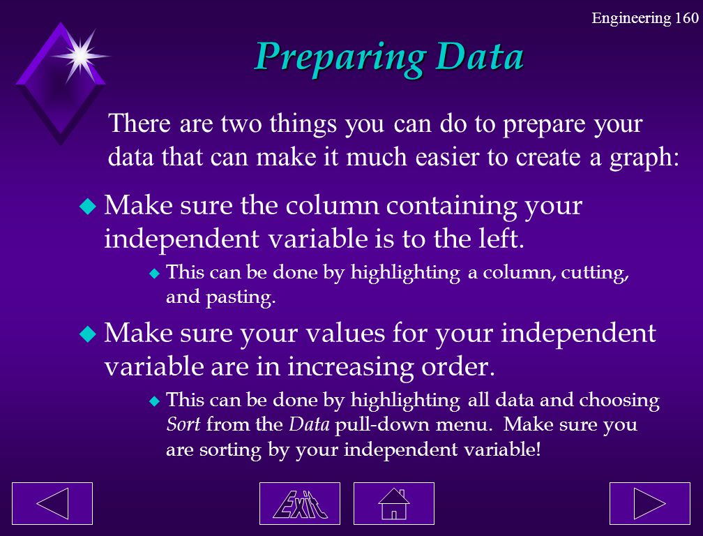 Preparing Data There are two things you can do to prepare your