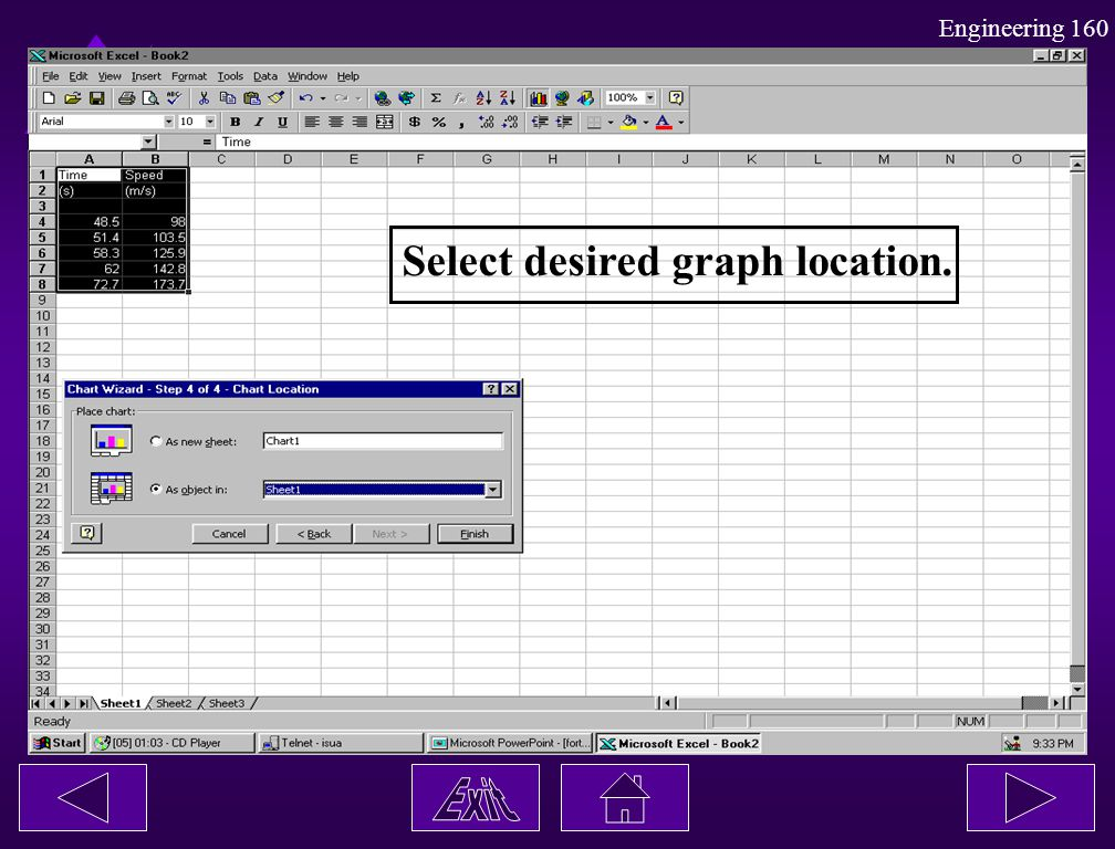 Select desired graph location.