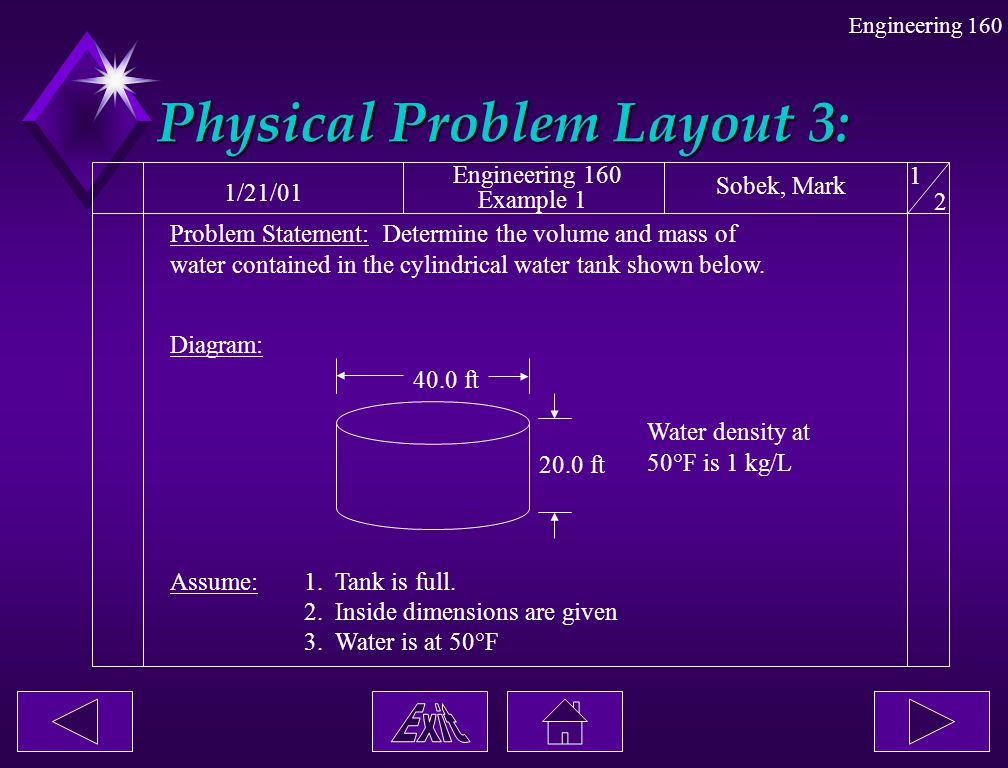 Physical Problem Layout 3: