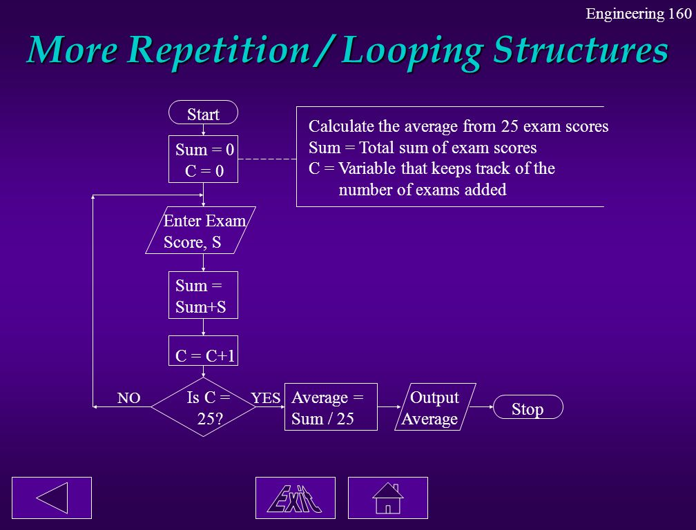 More Repetition / Looping Structures