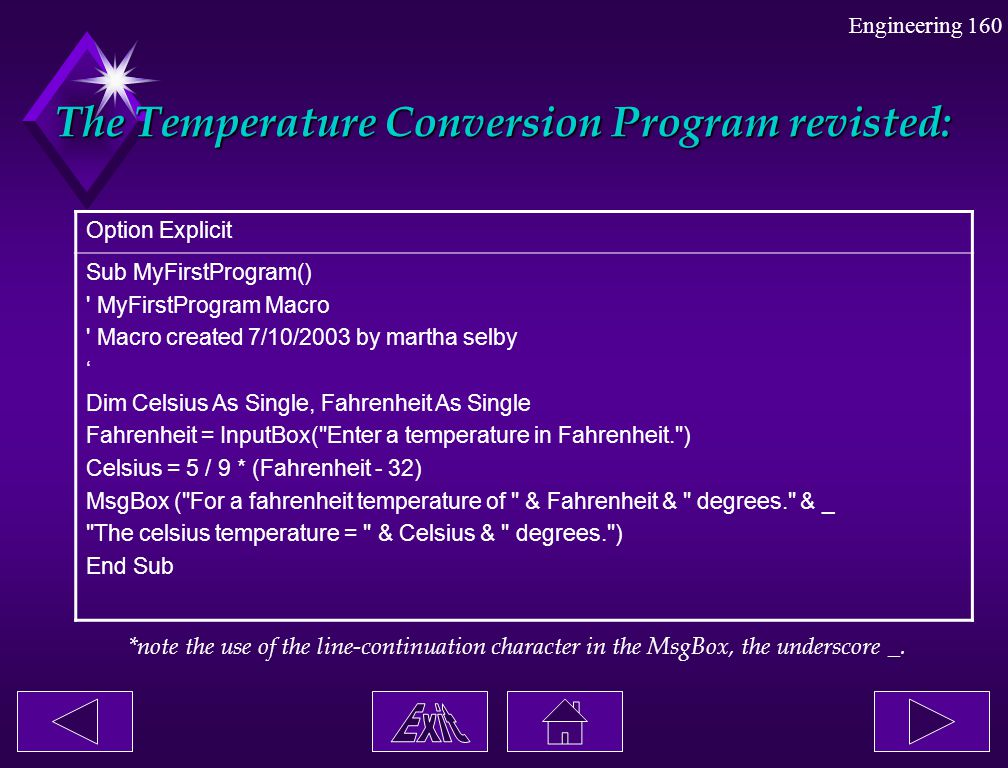 The Temperature Conversion Program revisted: