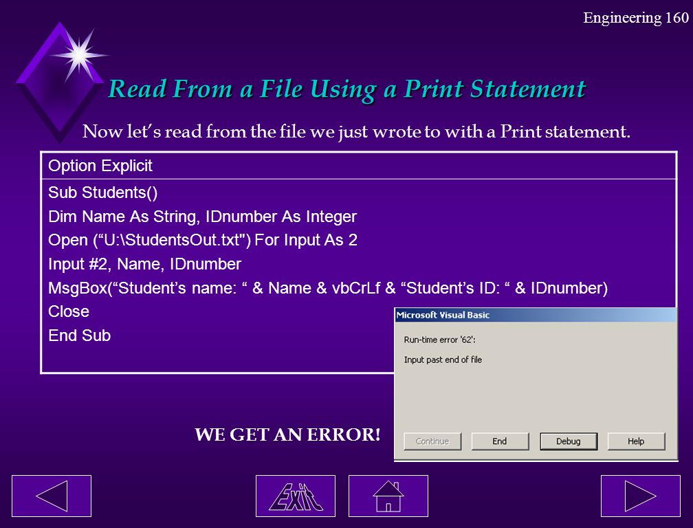 Read From a File Using a Print Statement