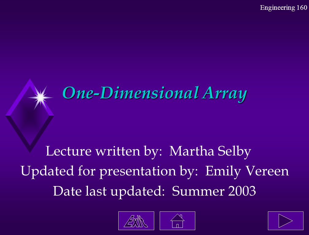 One-Dimensional Array