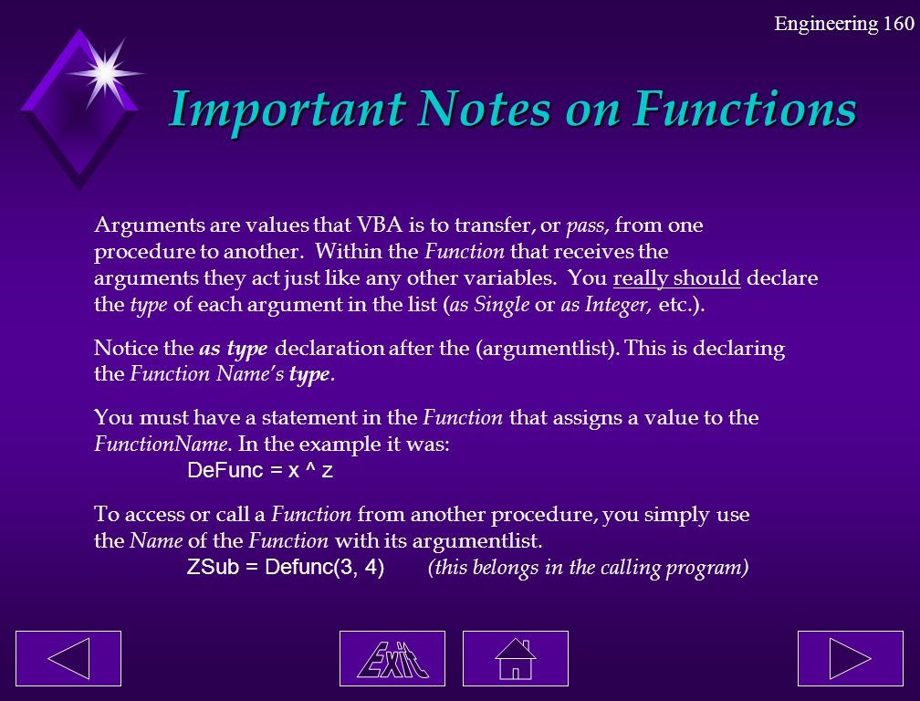 Important Notes on Functions
