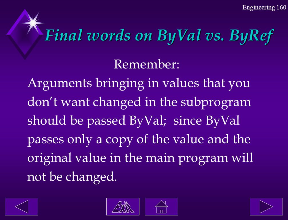Final words on ByVal vs. ByRef