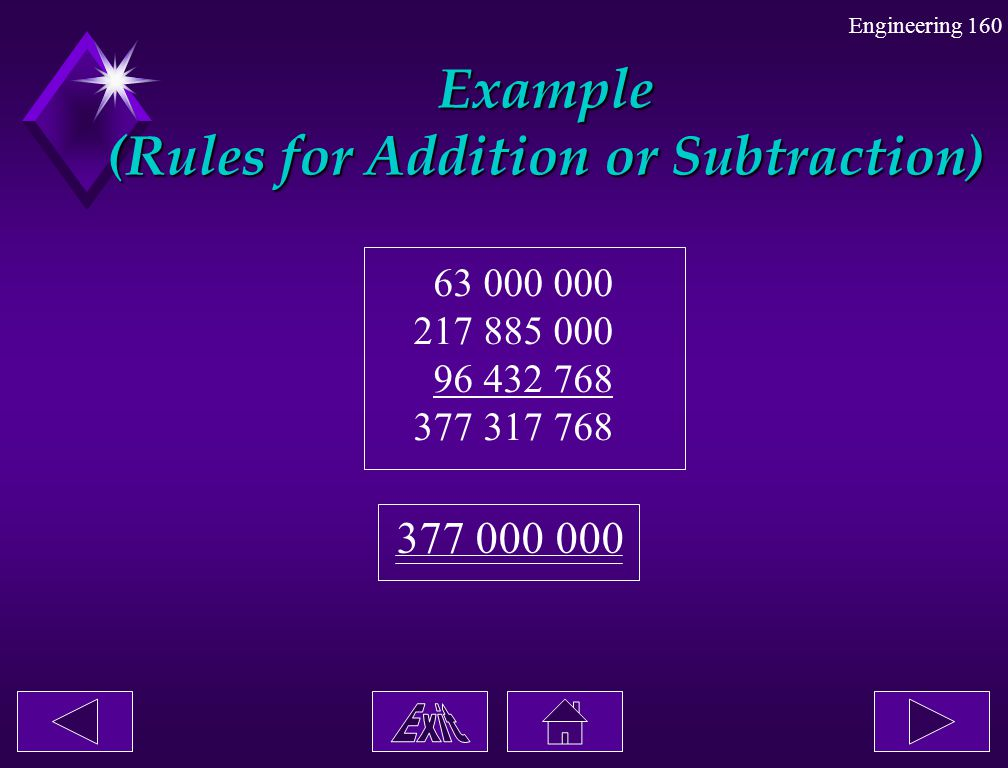 Example (Rules for Addition or Subtraction)