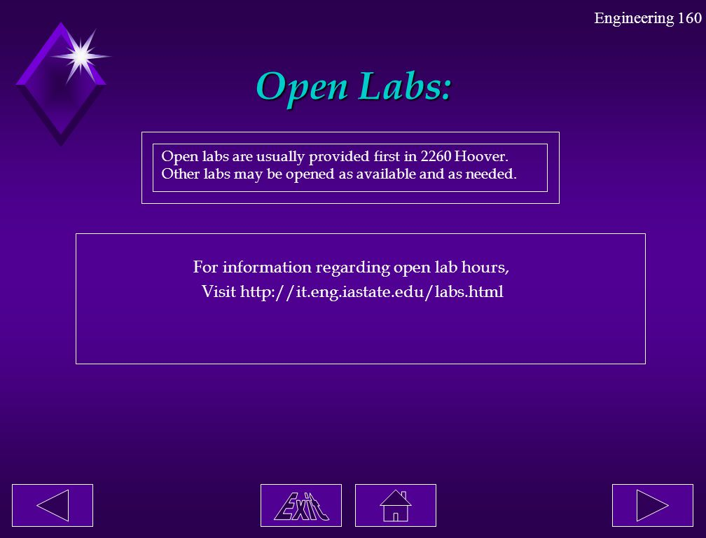 Open Labs: For information regarding open lab hours,
