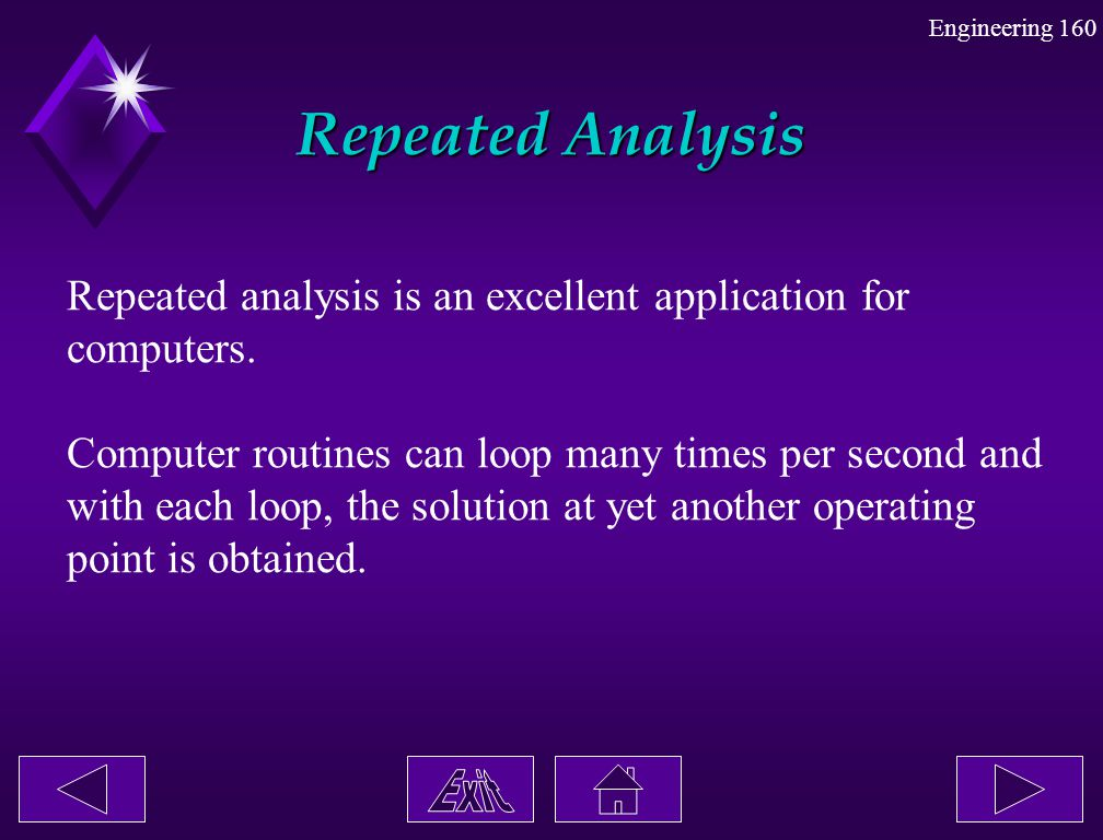 Repeated Analysis Repeated analysis is an excellent application for