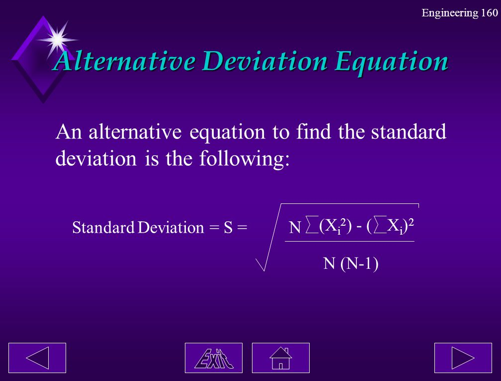 Alternative Deviation Equation