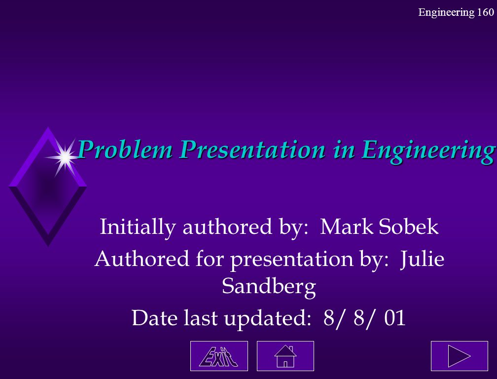 Problem Presentation in Engineering