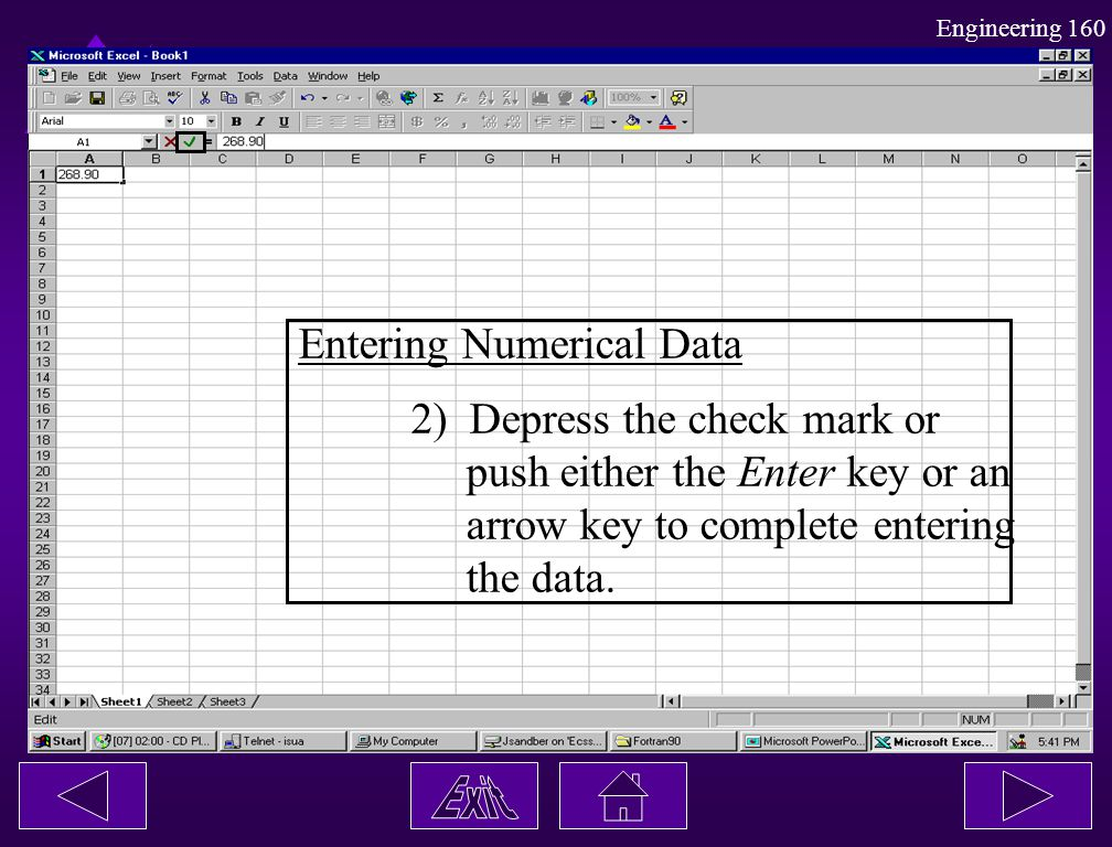 Entering Numerical Data
