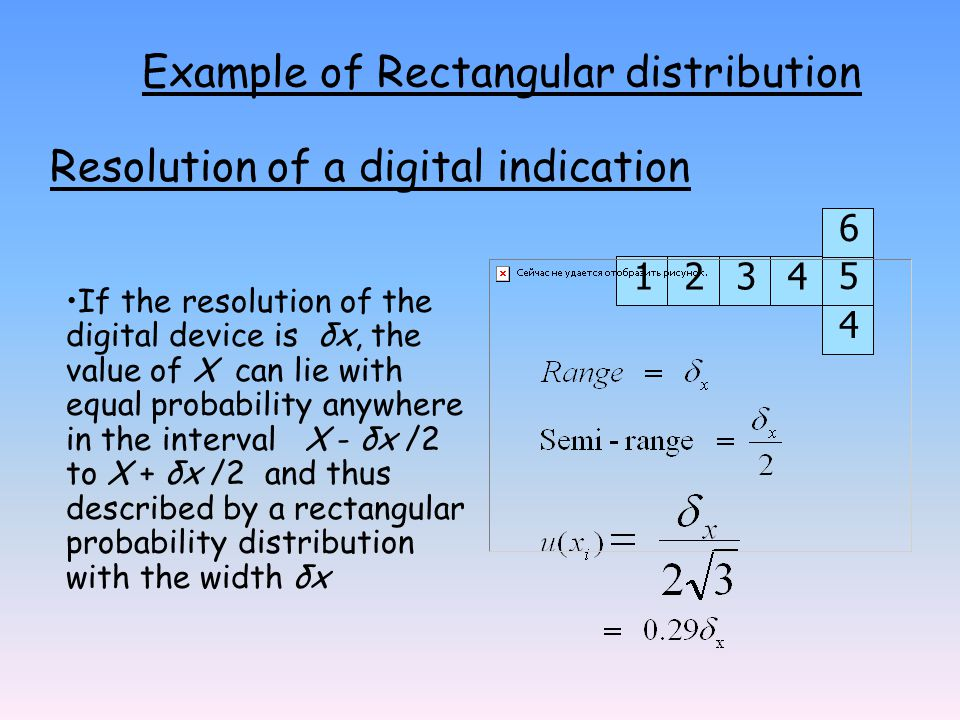 Example of Rectangular distribution
