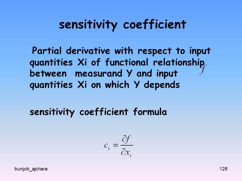 sensitivity coefficient