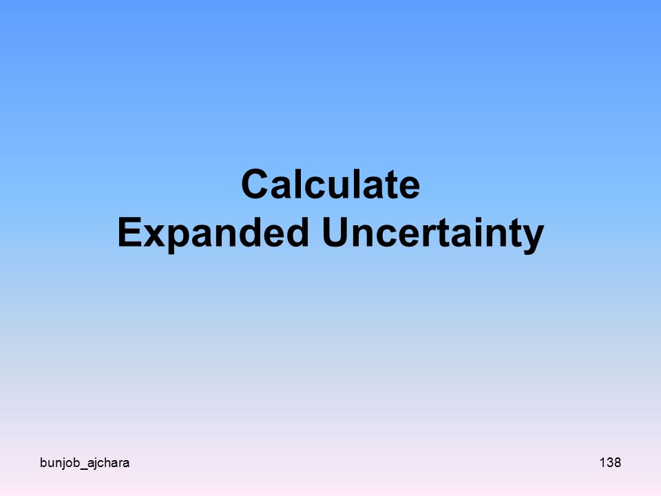 Calculate Expanded Uncertainty