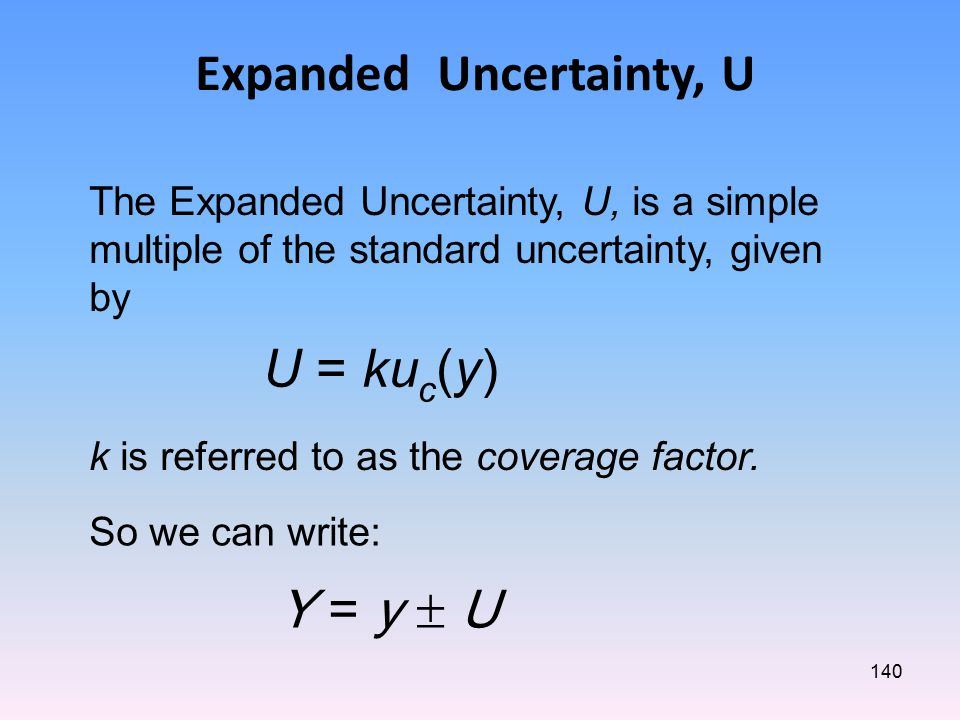 Expanded Uncertainty, U