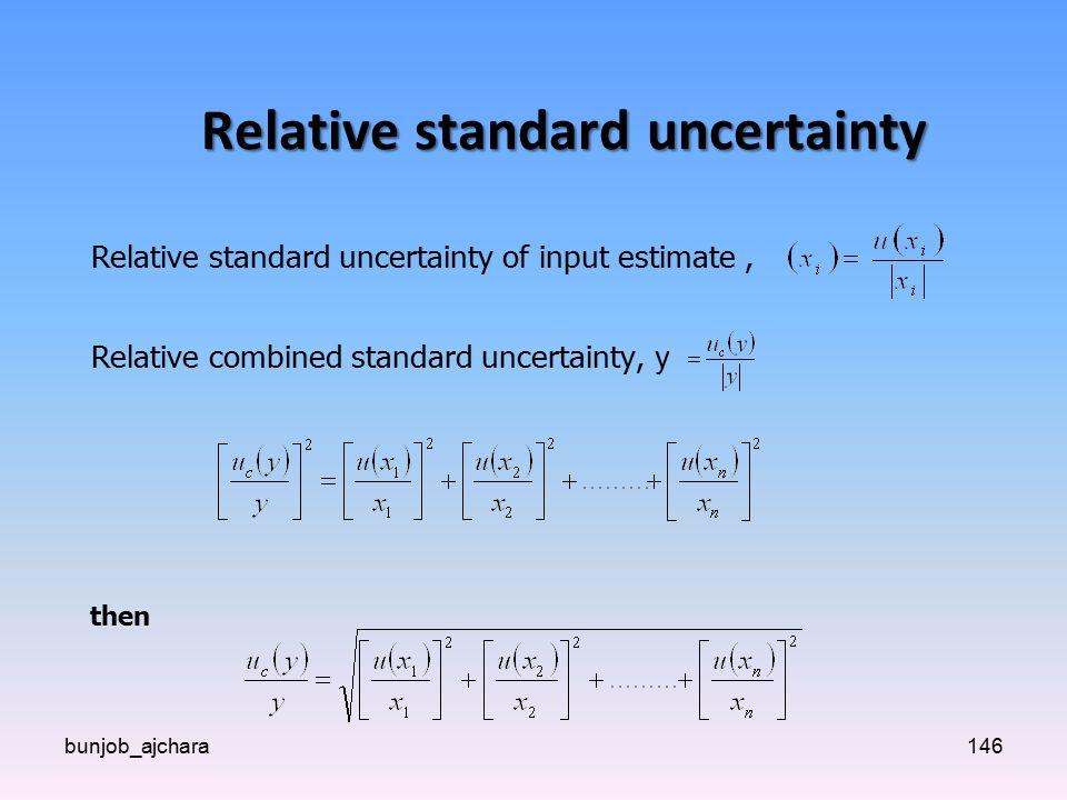 Relative standard uncertainty