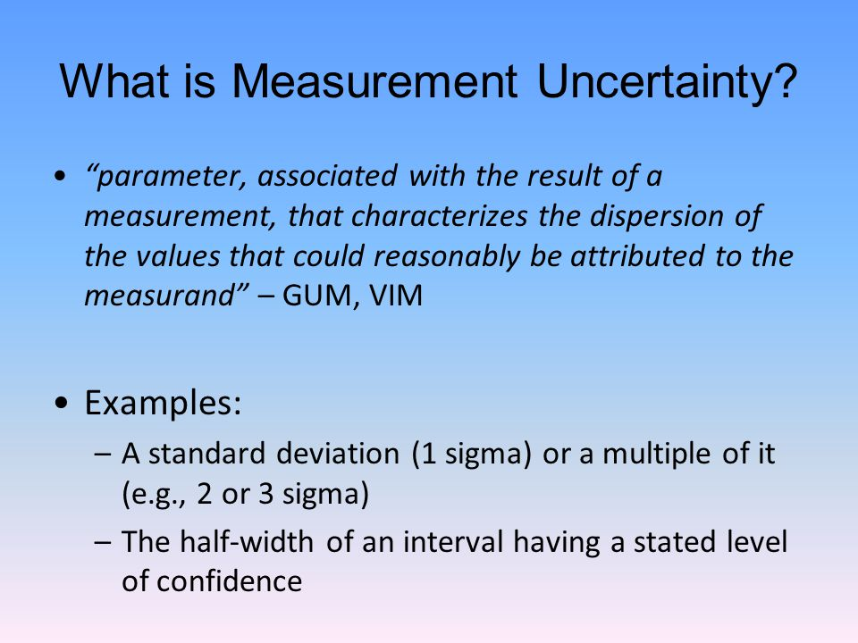 What is Measurement Uncertainty