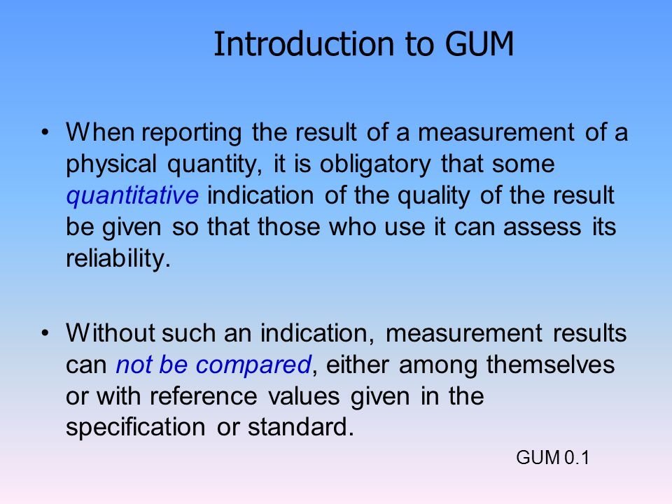 Introduction to GUM