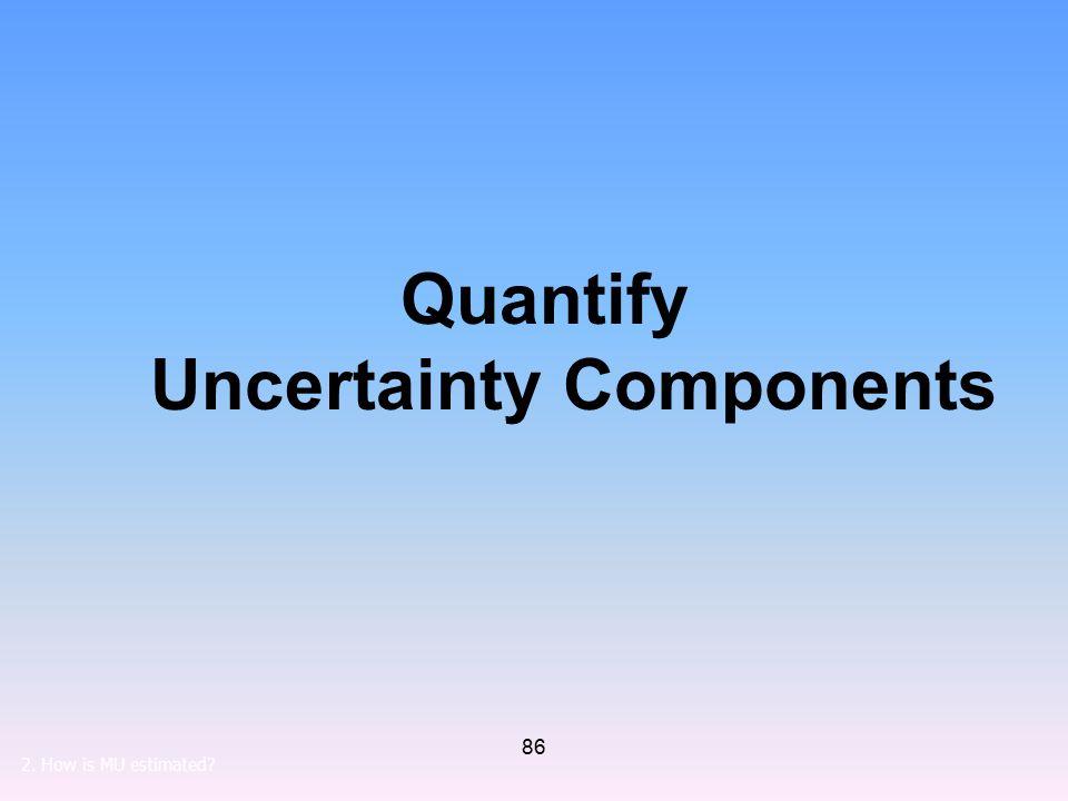 Quantify Uncertainty Components