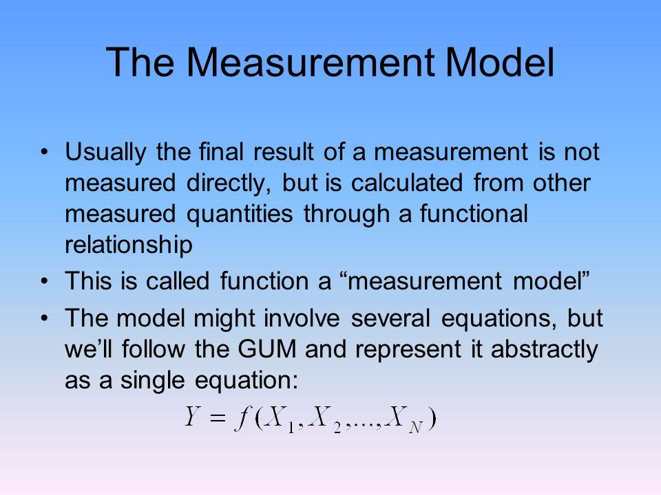 The Measurement Model