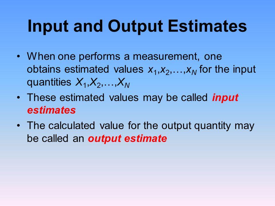 Input and Output Estimates