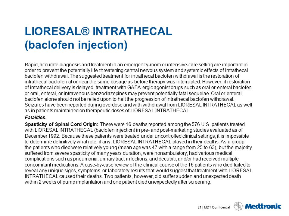 LIORESAL® INTRATHECAL (baclofen injection)