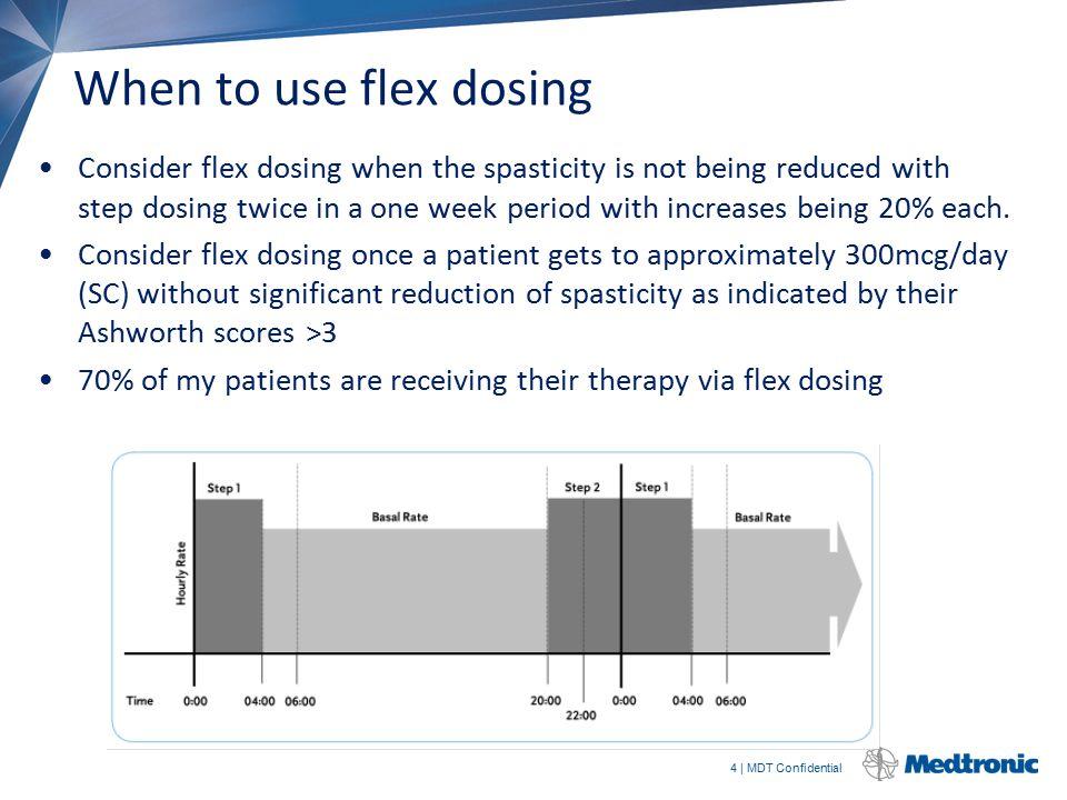 When to use flex dosing