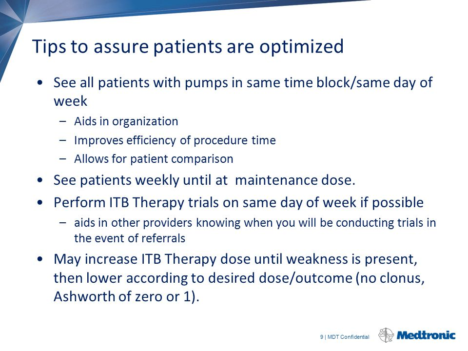 Tips to assure patients are optimized