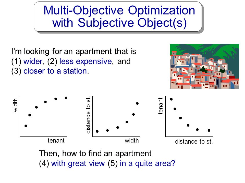 Multi-Objective Optimization with Subjective Object(s)