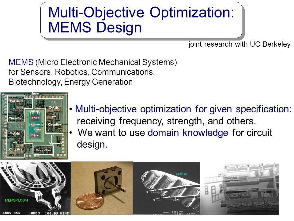 Multi-Objective Optimization: MEMS Design