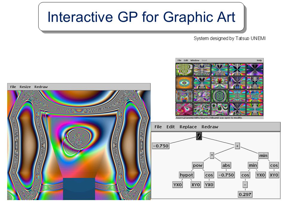 Interactive GP for Graphic Art