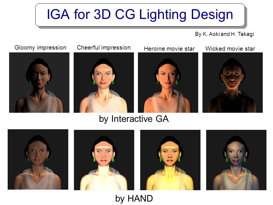 IGA for 3D CG Lighting Design