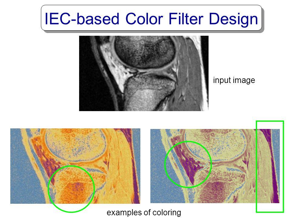 IEC-based Color Filter Design