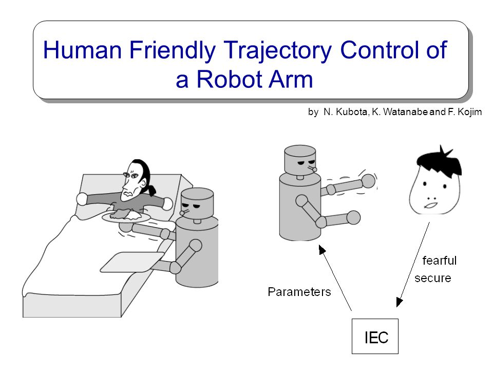 Human Friendly Trajectory Control of a Robot Arm