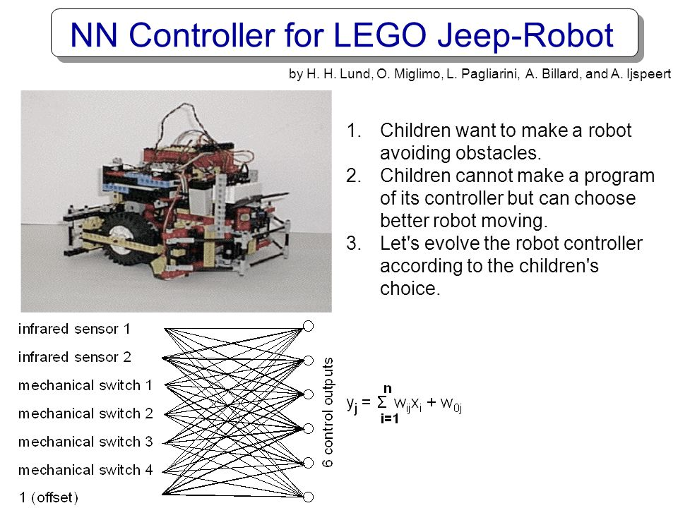 NN Controller for LEGO Jeep-Robot