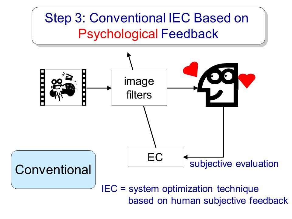 Step 3: Conventional IEC Based on Psychological Feedback