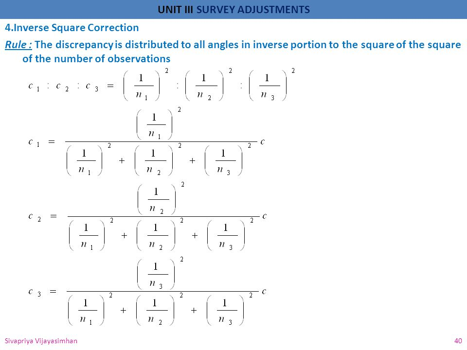 4.Inverse Square Correction