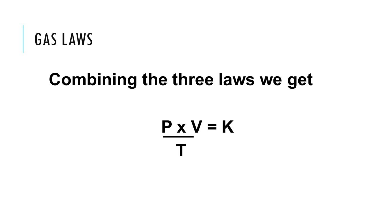 Combining the three laws we get