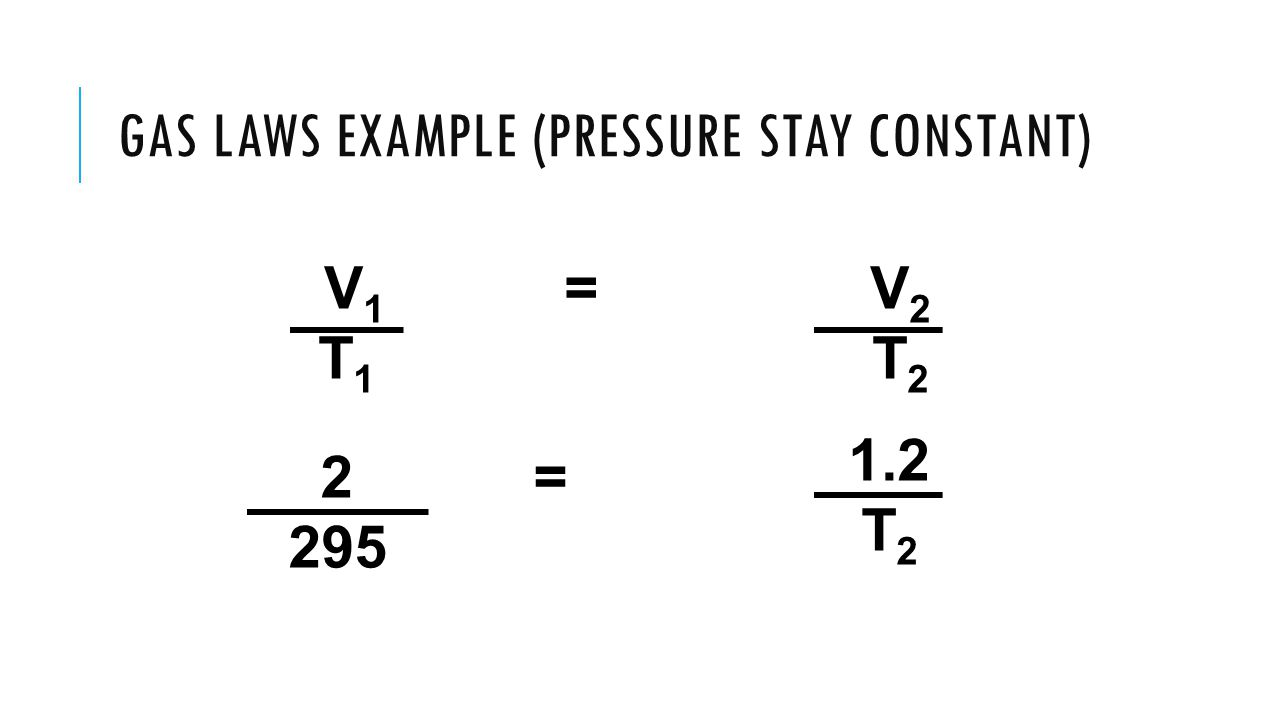Gas Laws Example (Pressure stay constant)