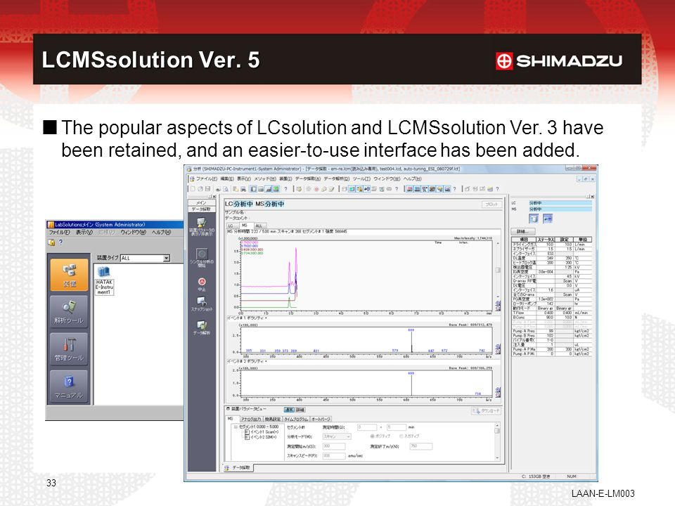 LCMSsolution ver.5 LCMSsolution Ver. 5