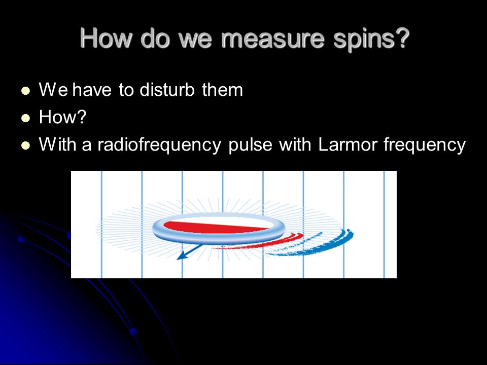 How do we measure spins We have to disturb them How