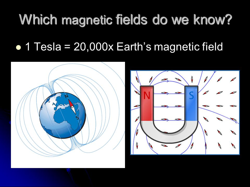 Which magnetic fields do we know