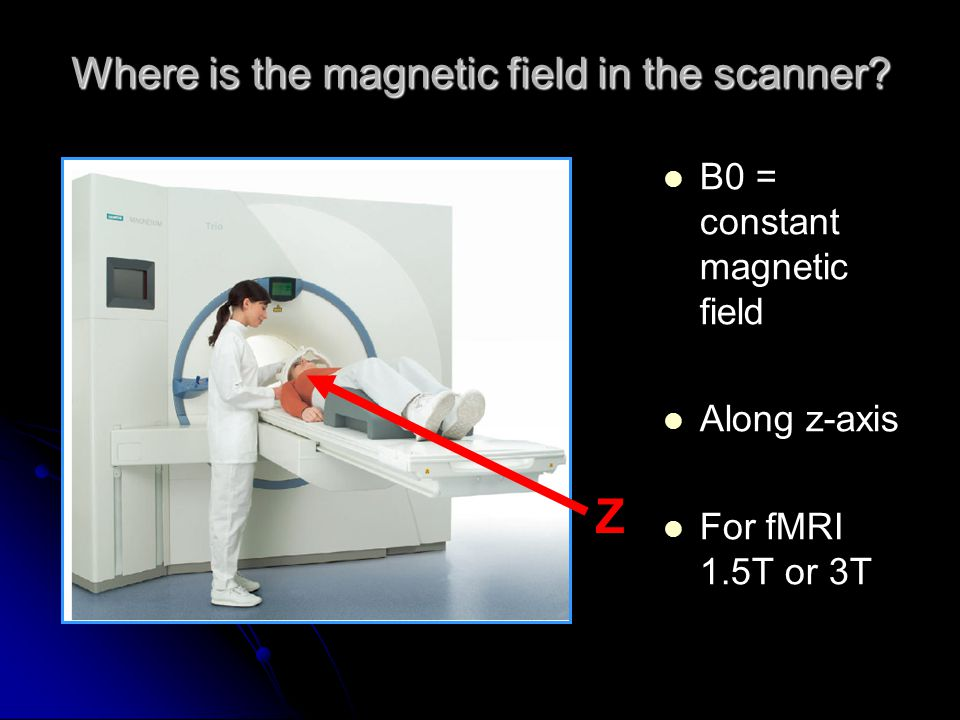Where is the magnetic field in the scanner