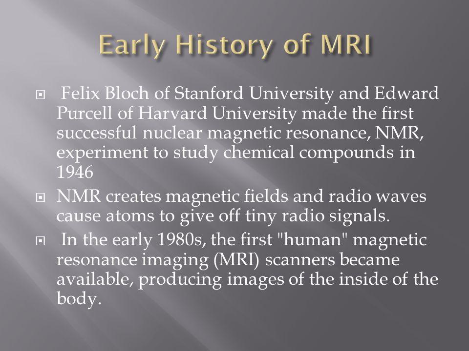 Early History of MRI