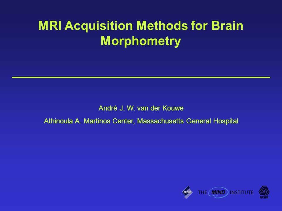 MRI Acquisition Methods for Brain Morphometry