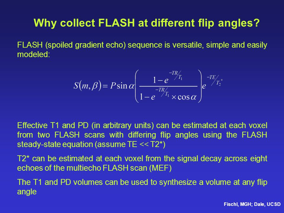 Why collect FLASH at different flip angles